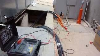 Teste de isolação elétrica em epi